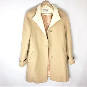 Jackets & Blazers - TRENDY Vintage Camel Lambs Wool Trench Coat